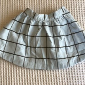 Janie and Jack flannel skirt